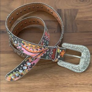Blazin Roxx Studded Leather Belt
